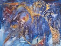 Der blaue Jazz. 1997. 74 x 55 cm