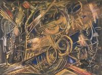Des Teufels Lächeln. 1996. 82 x 65 cm