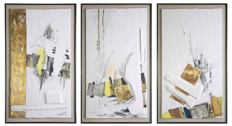 Zeitzeugen II, III, IV. 1999. 98 x 58 cm%