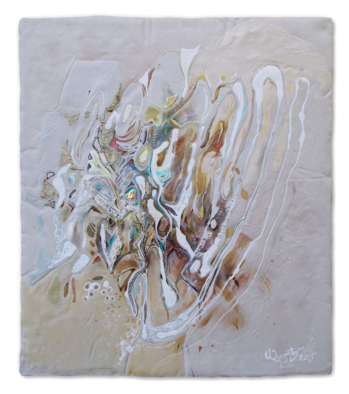 Handblüte. 2015. 140 x 160 cm%