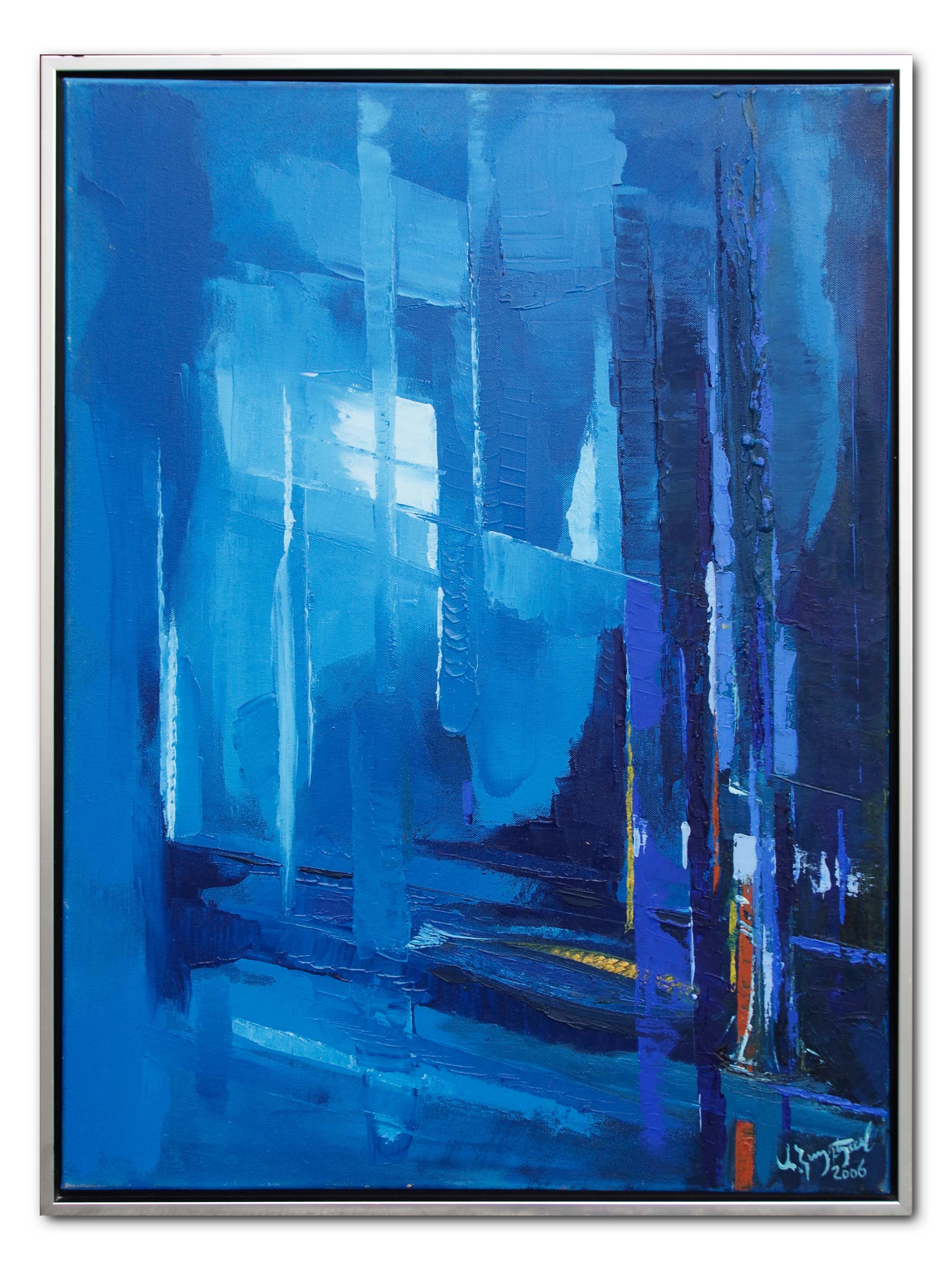 Rhapsudy in Blue. 2006. 60 x 80 cm%